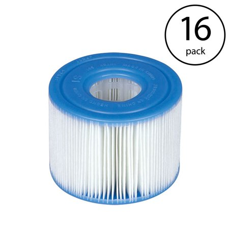 S1 Filter - Intex PureSpa Type S1 Easy Set Pool Filter Replacement Cartridges (16 Filters)