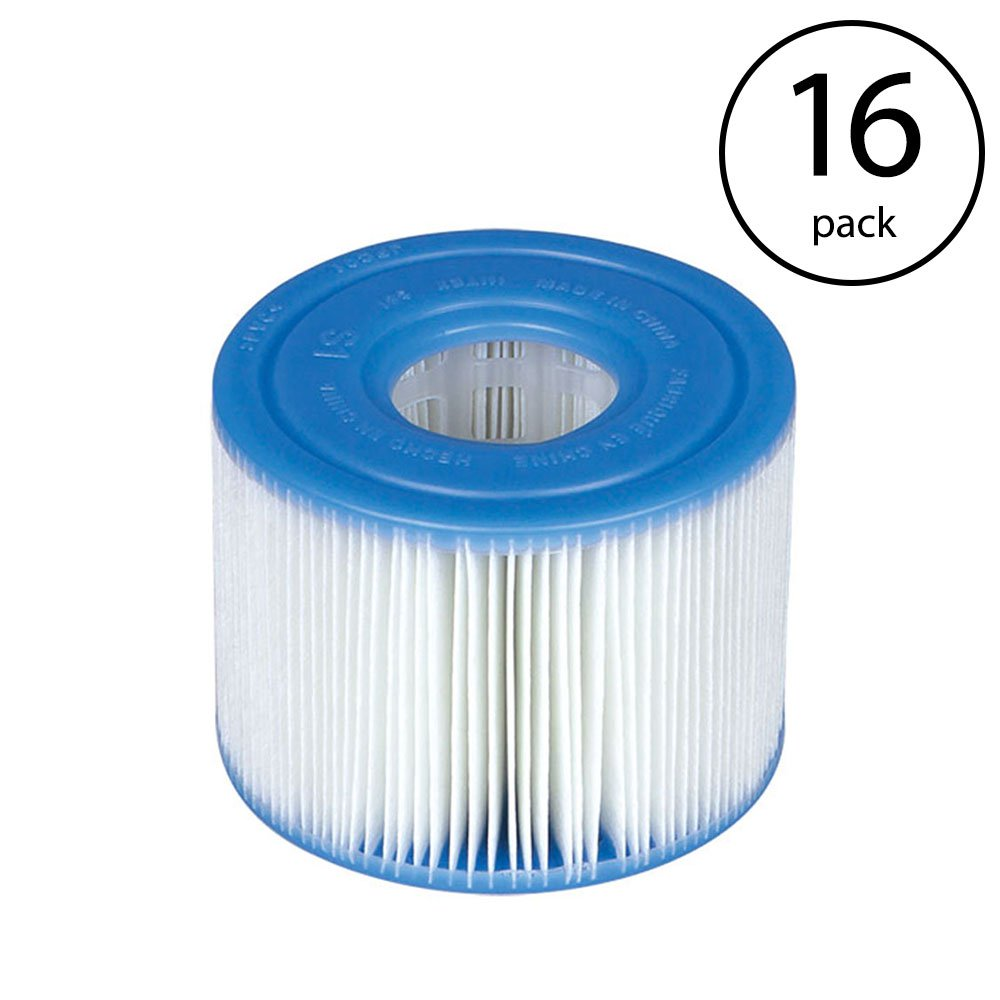 Intex PureSpa Type S1 Easy Set Pool Filter Replacement Cartridges (16 Filters)