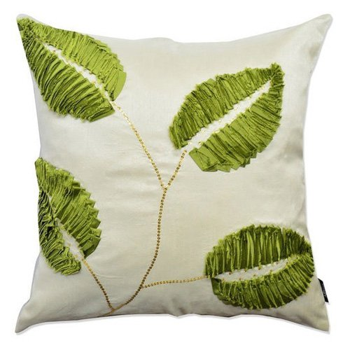 Image of A1 Home Collections 3D Leaf Throw Pillow