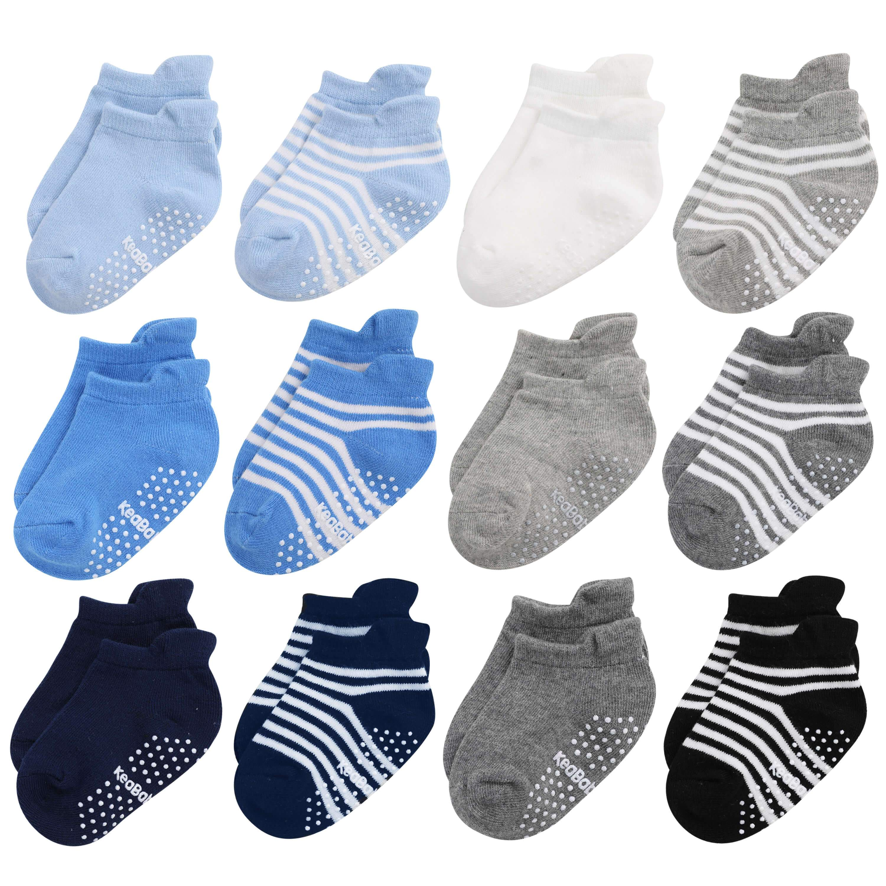 Dicry Non Slip Baby Socks with Grips Toddler Girls Boys Anti Skid Ankle Socks Infant Kids 6//12 Pairs