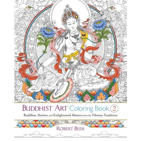 (Buddhist Art Coloring, Book 2: Buddhas, Deities, and Enlightened Masters from the Tibetan Tradition (Paperback))