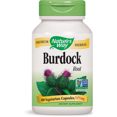 Natures Way Burdock Root Non-GMO Project, Tru? ID Certified, 100 Ct