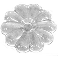 United States Hardware D-140D Clear Rosette Button Bag/100