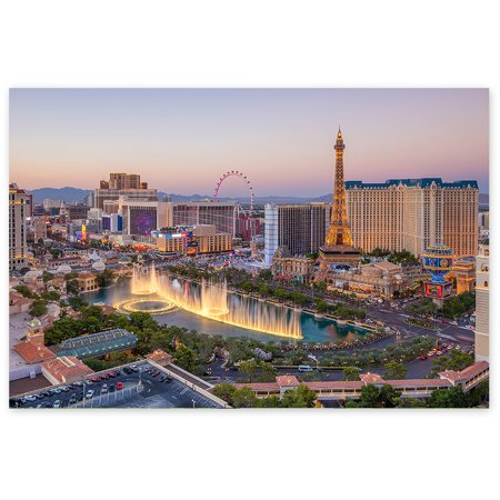 Awkward Styles Vegas Lovers Gifts American Party Decorations USA Poster Wall Art Las Vegas at the Morning Poster Photo Prints Urban Photo Collection Printed Photo Pictures Vegas Fine Art for Home](Usc Decorations)