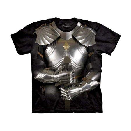 Kids 100% Cotton Body Armor Graphic Animal Novelty T-Shirt (Graphite Body)