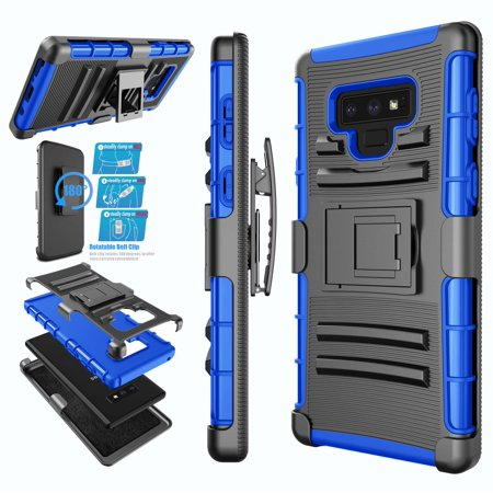 new style 2dc0e afb15 Samsung Galaxy Note 9 Case, Galaxy Note 9 Holster Belt, Note 9 Cover, Njjex  Phone Case Built-in Kickstand & Holster Belt Clip [Heavy Duty] Carrying ...