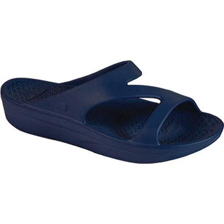 e33ff3b2c598 Telic - Telic Z-Strap Recovery Slide Sandal - Women s - Blue - Walmart.com
