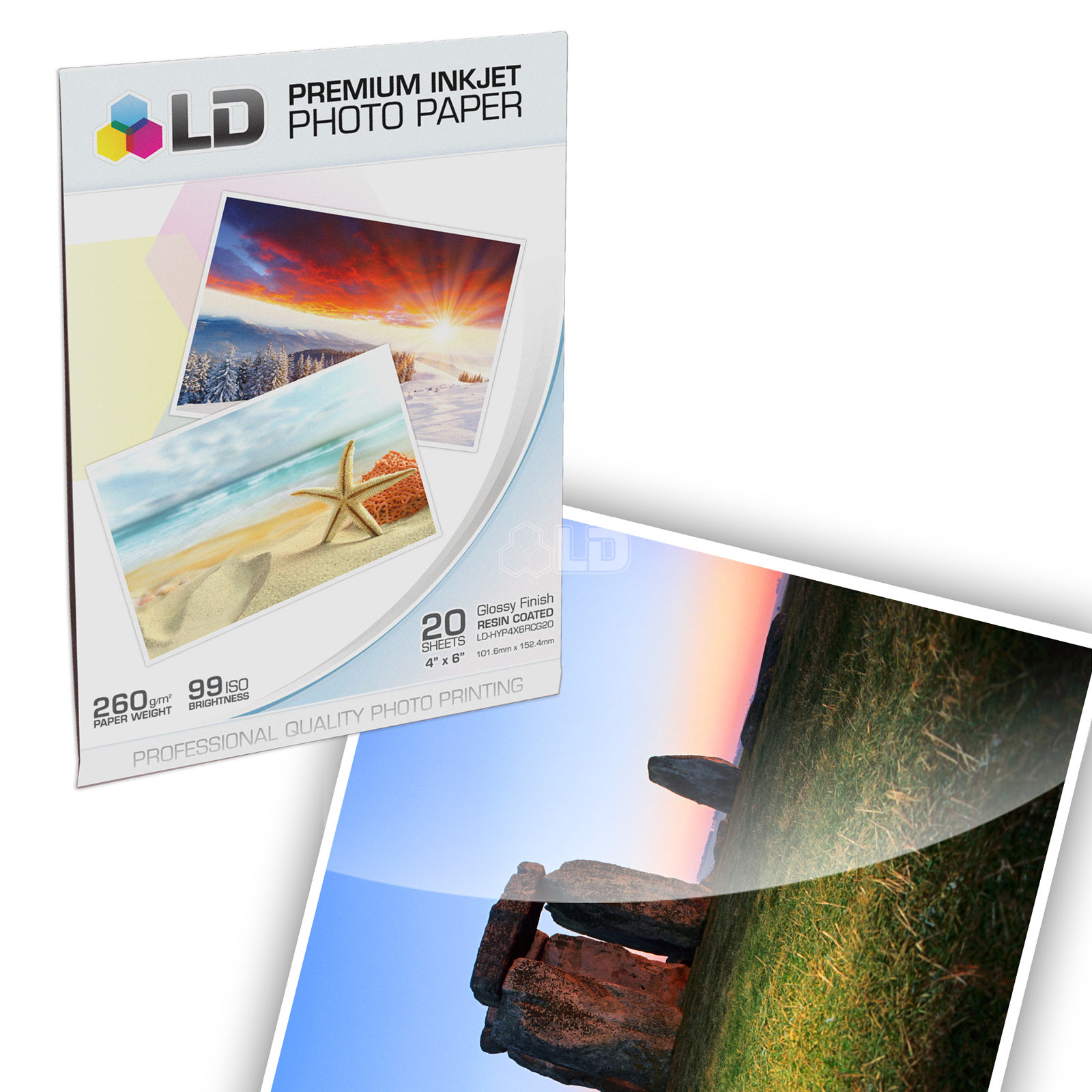 LD Brother Compatible LC51 Bulk Set of 10 Ink Cartridges: 4 Black & 2 each of Yellow / Cyan / Magenta   Free 4x6 Photo