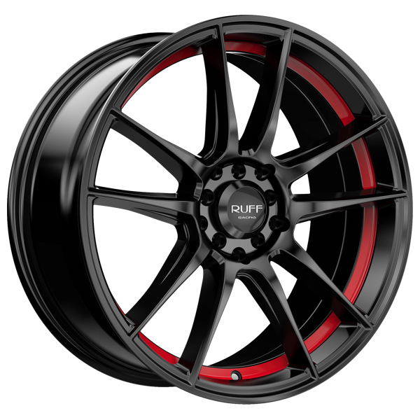 Ruff R364 17x7.5 5x100/5x114.3 +38mm Black/Red Wheel Rim
