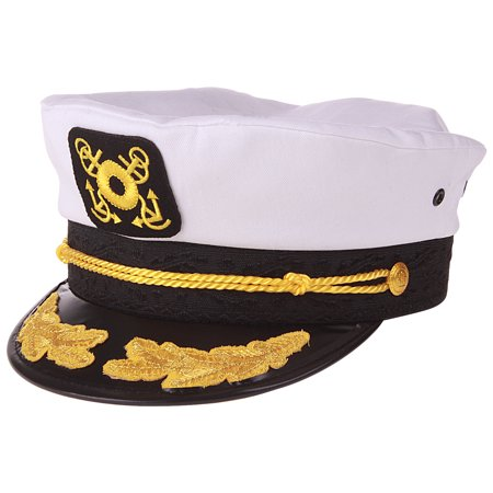 Enimay Yacht Boat Captain Hat Marines Admiral Cap Hat White - Captain Hook Hat