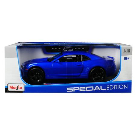 2010 Chevrolet Camaro RS SS Light Blue with Black Wheels 1/18 Diecast Model Car by Maisto Camaro Ss Wheel Emblems