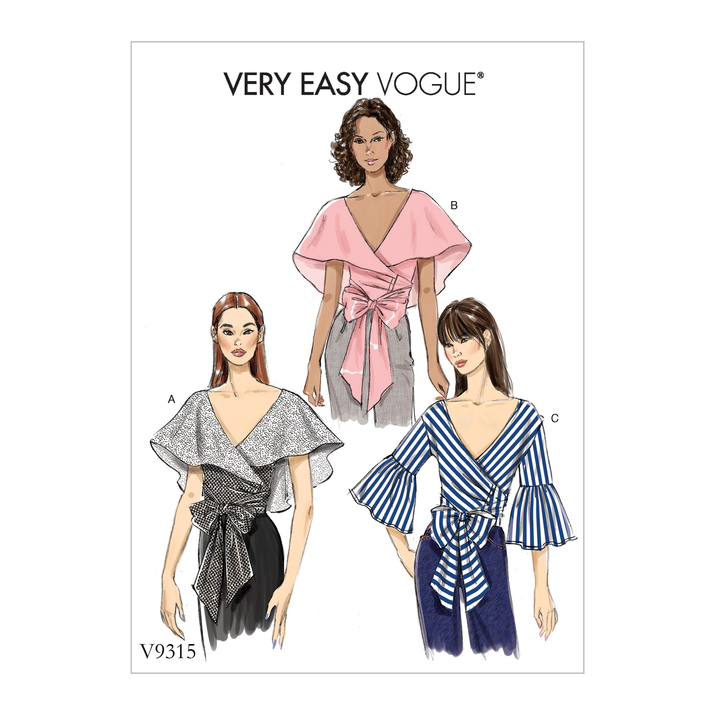 Vogue Patterns Sewing Pattern Misses' Top-6-8-10-12-14