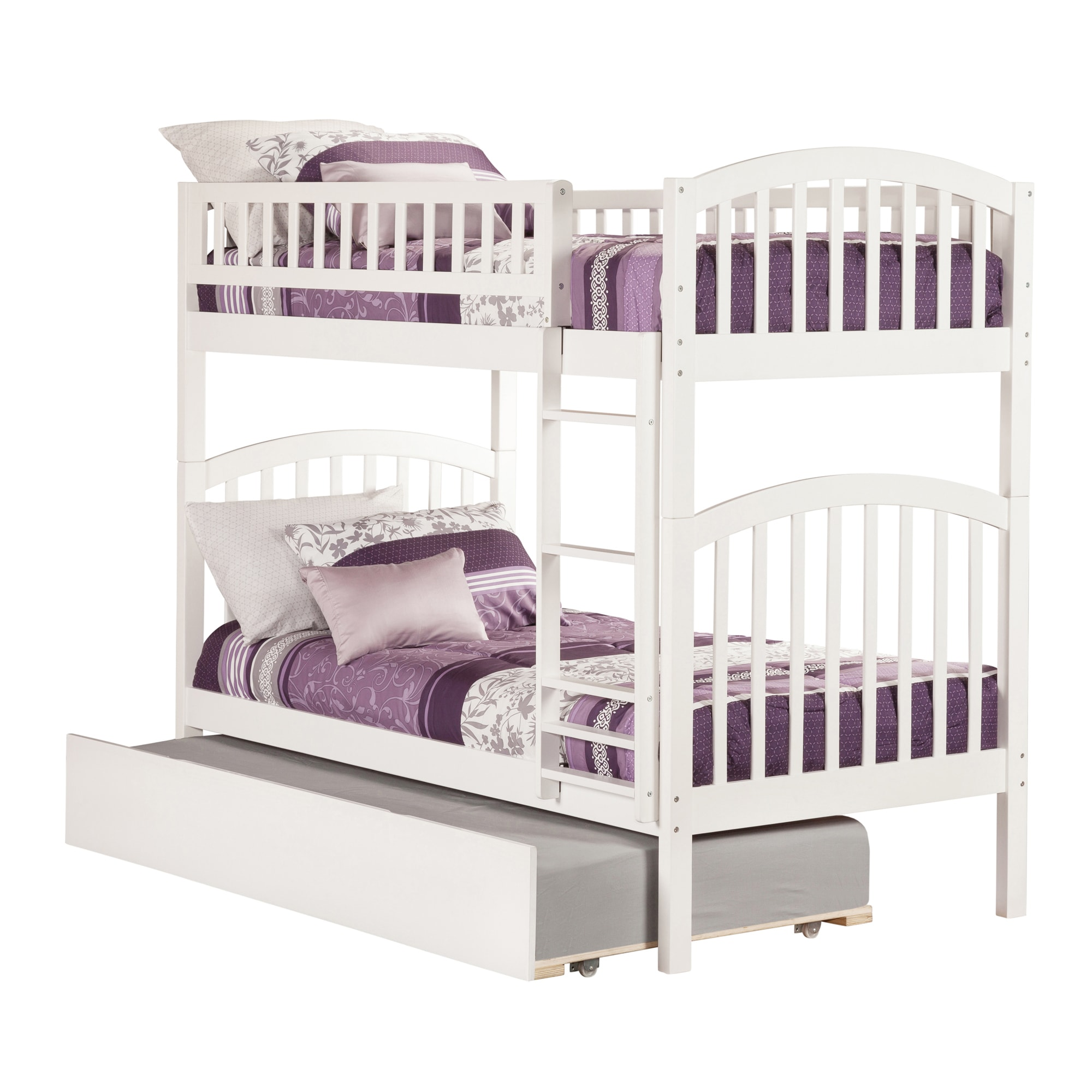Atlantic Furniture Atlantic Kids' Richland White Twin-over-twin Bunk Bed with Urban Trundle