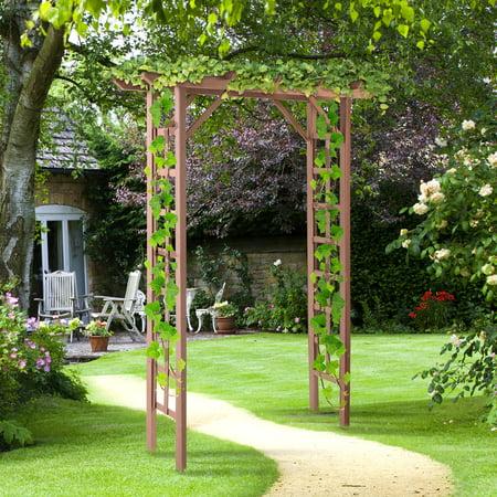 Durable Structure WPC Garden Arch Arbor for Decorative Climbing Plants Lawn Backyard Wedding](Wedding Arbors For Sale)