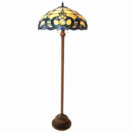 - Chloe  Tiffany Style Victorian Design 2-light Antique Bronze Floor Lamp