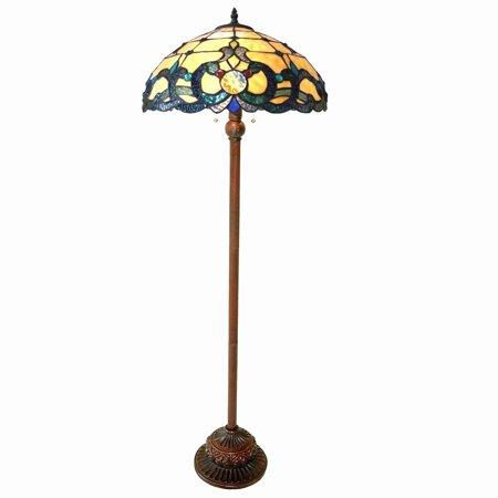 - Chloe  Tiffany Style Victorian Design 2-light Antique Bronze Floor Lamp