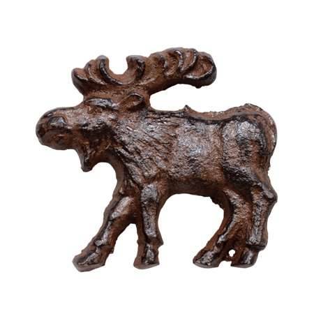 Cast Iron Rust Moose Knob (Rust Moose)