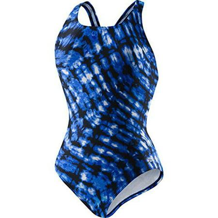 Speedo® Ladies Ultraback Swimsuit (14, Blue Tie Dye) ()