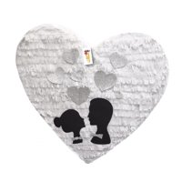 APINATA4U Wedding Bride & Groom Silhouette Heart Pinata