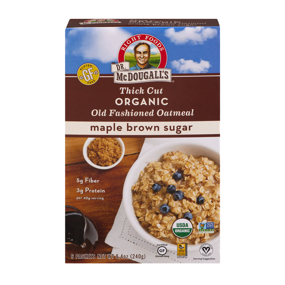 Dr. McDougall's Thick Cut Organic Old Fashioned Oatmeal M...