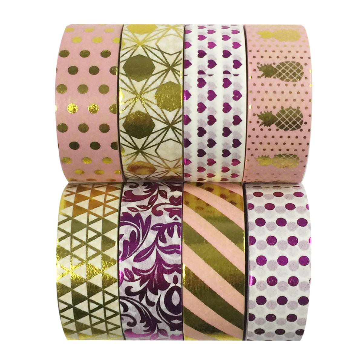 Wrapables® Metallic Foil Washi Masking Tape Collection (Set of 8), 08WPSET05