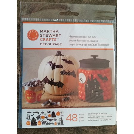Martha Stewart Crafts Decoupage Halloween Haunted House Die Cuts, By Plaid Enterprises Ship from US](Decoupages Halloween)