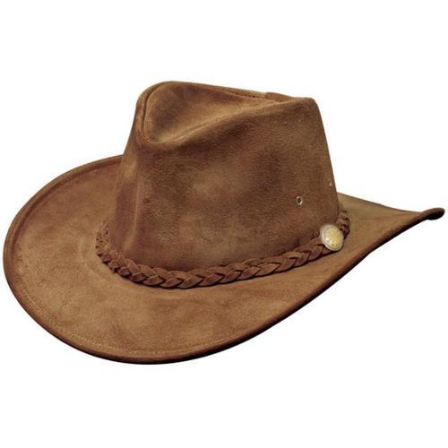 Henschel 1159-81L Suede Crushable Weekend Walker Cowhide Leather Cowboy Hat, Brown, Large