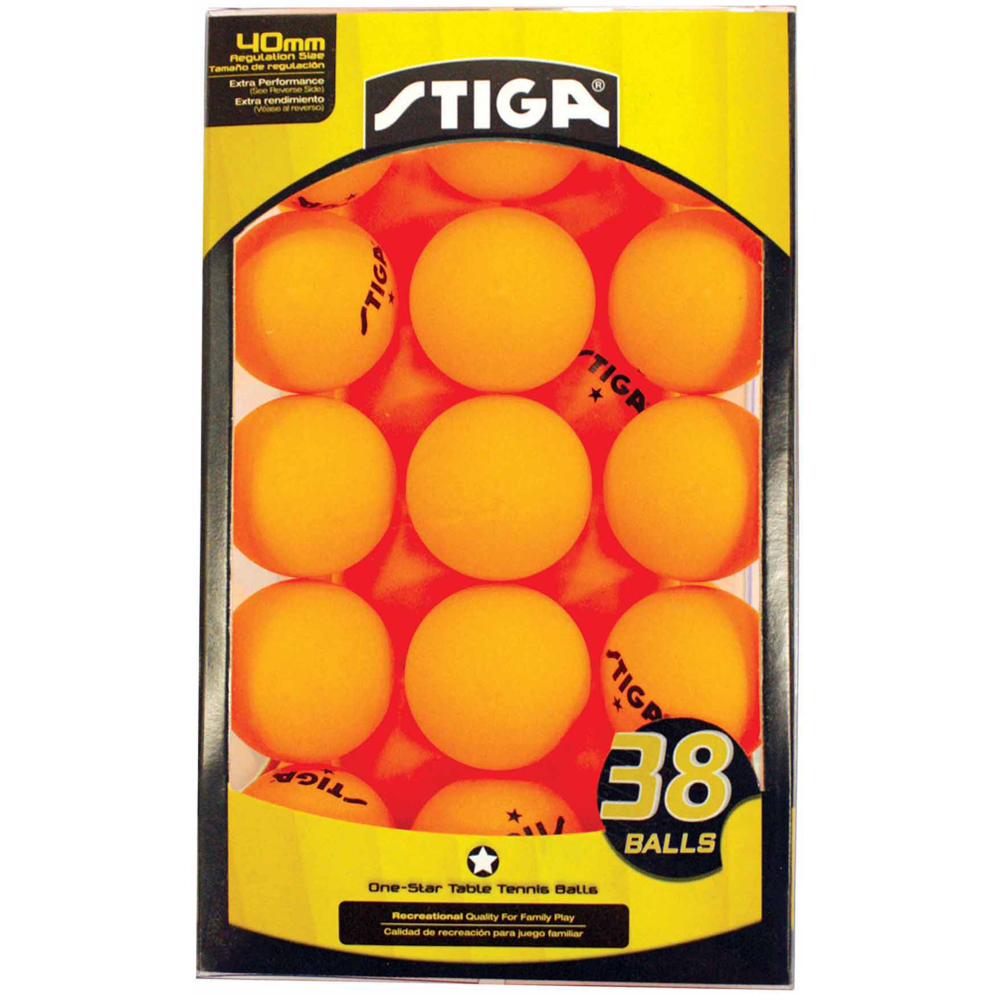 STIGA 1-Star Table Tennis Balls, 38pk