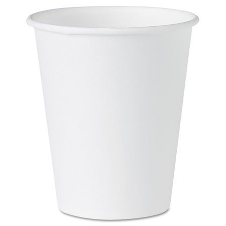 SOLO Cup Company White Paper Water Cups, 4oz, White, 100/Pack
