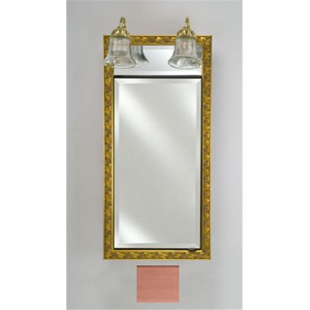 - Afina Corporation SD-LT1740RSOHBZ 17 inchx 40 inchTraditional Integral Lighted Single Door- Soho Brushed Bronze