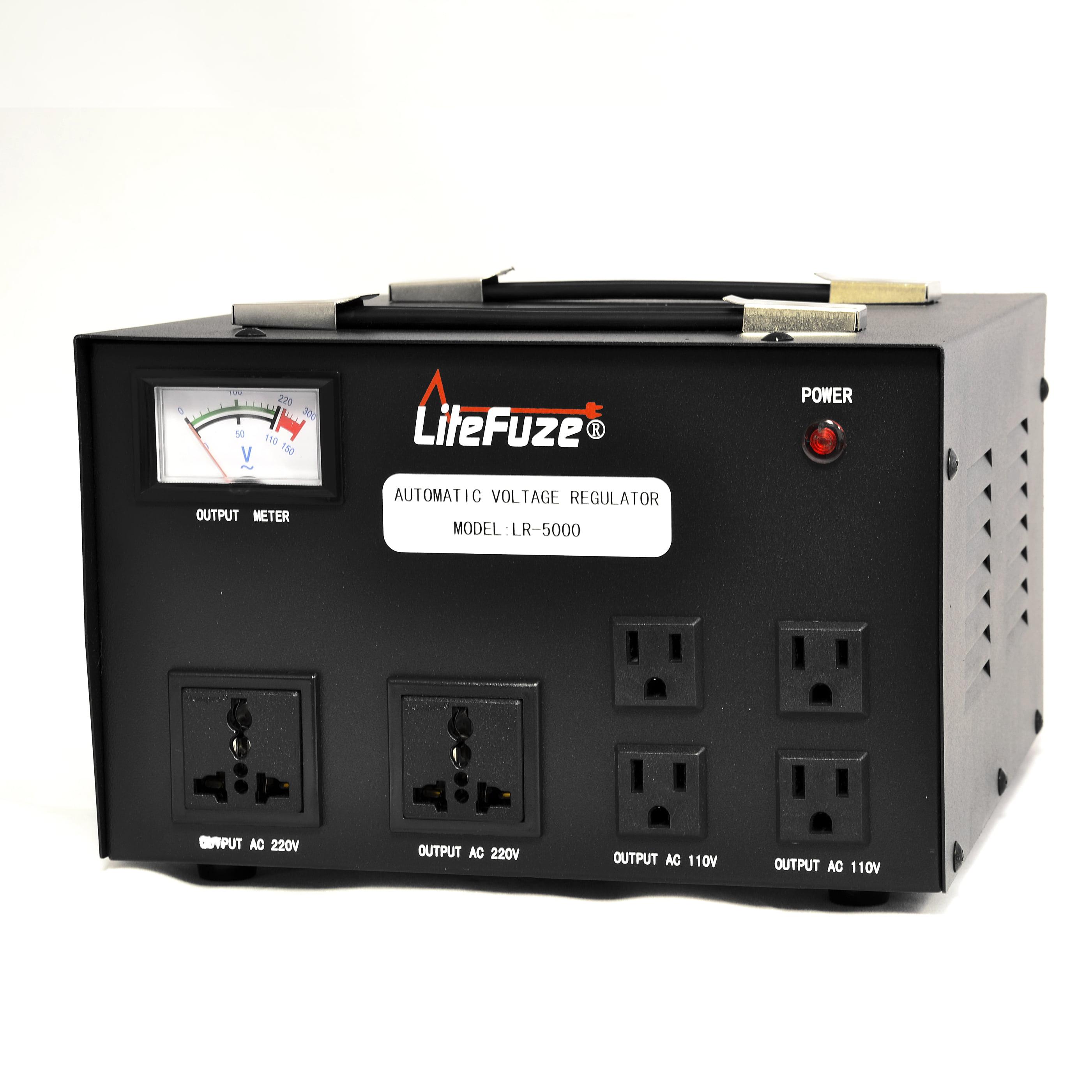 LiteFuze LR-5000 5000 Watt Voltage Regulator with Transfo...