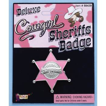 ACC-COWGIRL SHERIFF BADGE (Halloween Abc)