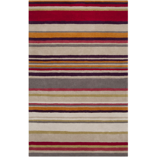 Harlequin Harlequin Raspberry Striped Area Rug