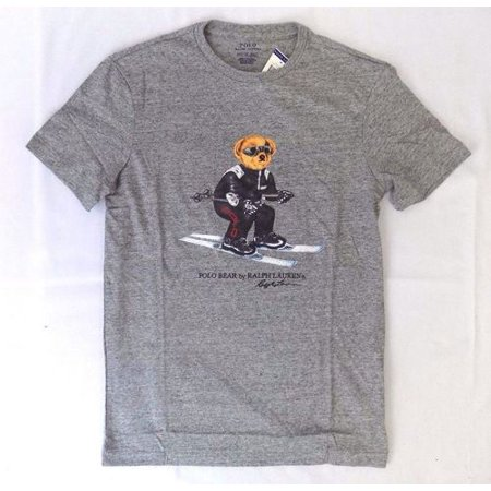 Ralph Lauren Halloween Polo (NEW MEN'S POLO RALPH LAUREN POLO SKI BEAR T-SHIRT SHIRT GRAY)