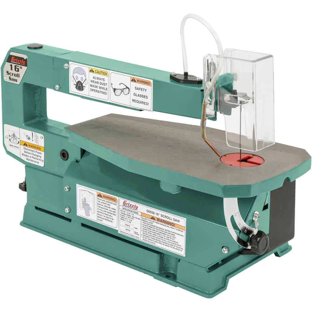 "Grizzly G0536 16"" Variable-Speed Scroll Saw"