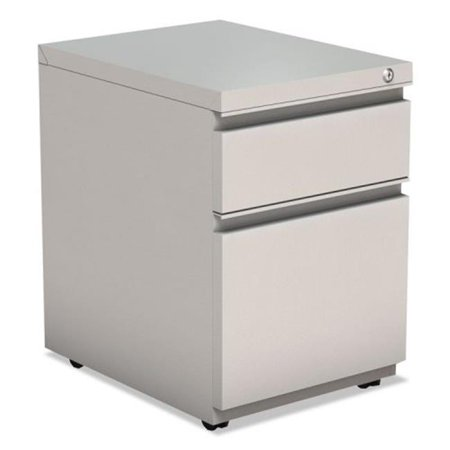 ALE Two-Drawer Metal Pedestal File with Full Length Pull, Gray Full Pull Utility Drawer