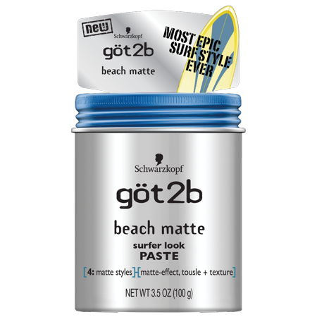 Got2B Beach Matte Surfer Look Hair Paste, 3.5 Ounce