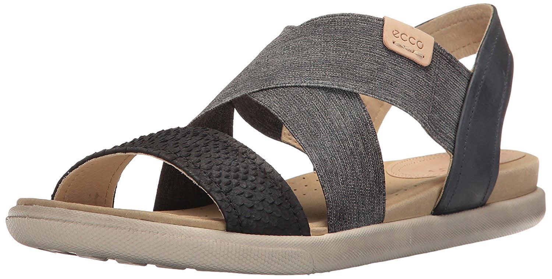 ECCO Women's Women's Damara 2-Strap Flat Sandal by Ecco