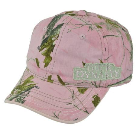 Duck Dynasty Women (Duck Dynasty A&E TV Series Realtree Ladies Women Pink Tree Garment Wash Hat)