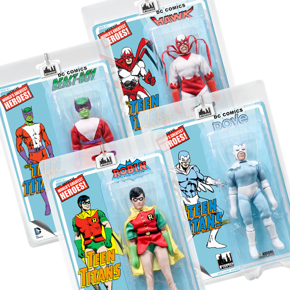 Teen Titans Retro 7 Inch Action Figures Series Two: Set of all 4 by