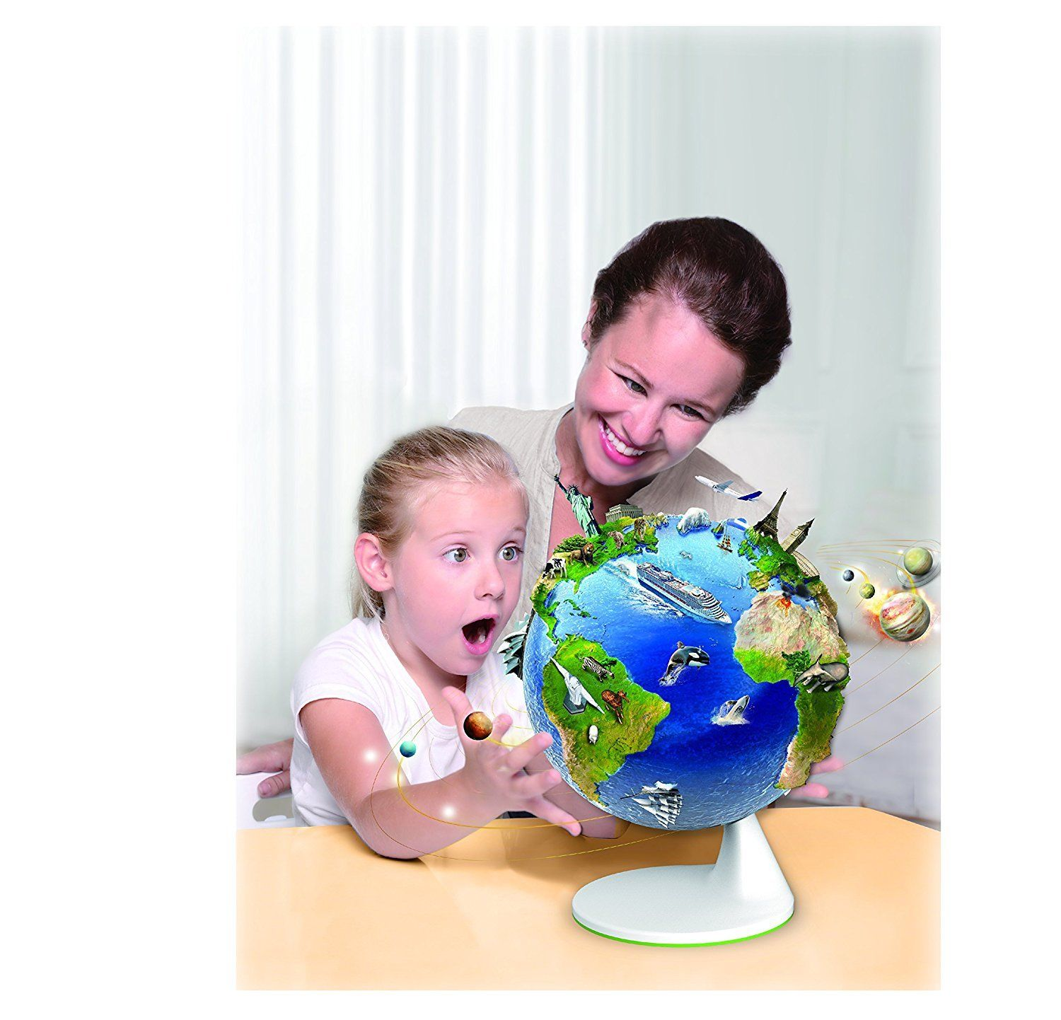 Smart Interactive Globe Augmented Reality AR Educational Globe for Kids Learning