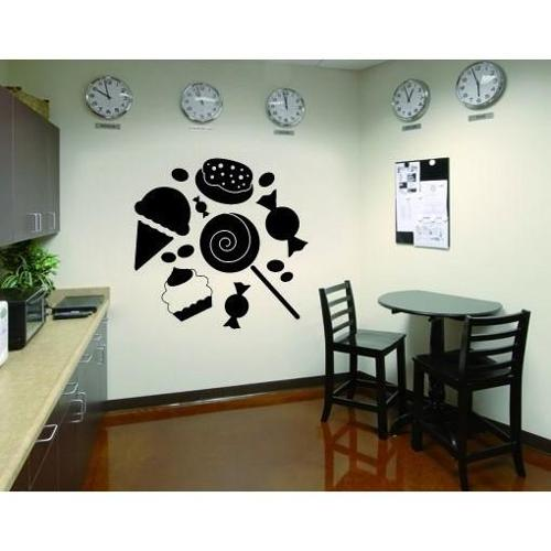 Sweets Wall Decal Vinyl Art Home Decor Lilac 20in x 20in