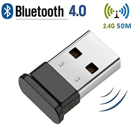 bluetooth usb adapter, 4.0 usb bluetooth dongle for desktop,windows 10/8.1/8, vista and xp, devices with 2.4ghz range by key idea black