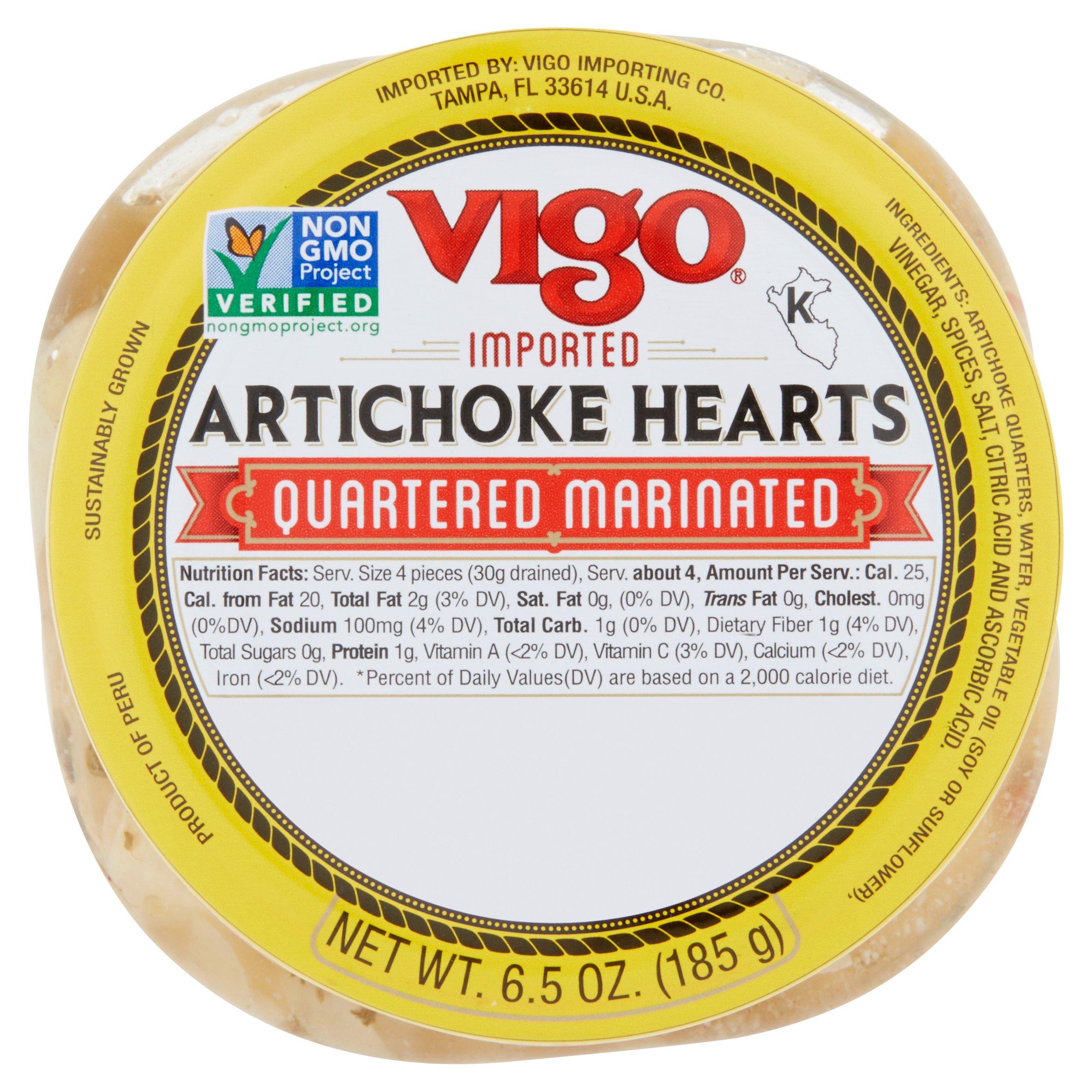 (6 Pack) Vigo Quartered Marinated Artichoke Hearts, 6.5 oz