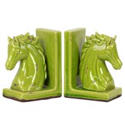 Urban Trends Stoneware Horse Bookend (Set of 2)