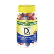 Spring Valley Adult Vitamin D3, 75 Ct