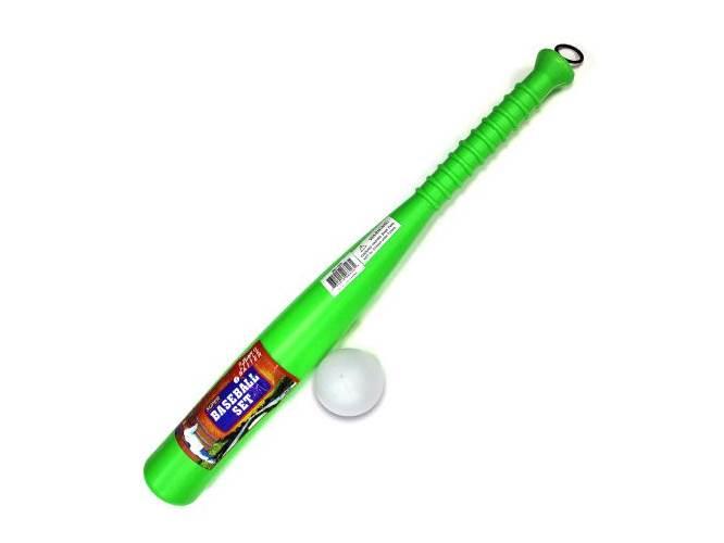 Plastic Baseball Bat and Ball Set of 12 by Kole Imports