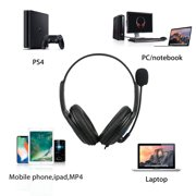 Headphone With Mic for PS4 Wired Gaming Headset Headphones with Microphone for PS4 PC Laptop Mac Phone