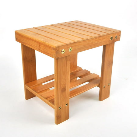 Enjoyable Ktaxon Multfunctional Kids Bamboo Stepping Stool Bench Chair With Storage Shelf Wood Color Beatyapartments Chair Design Images Beatyapartmentscom