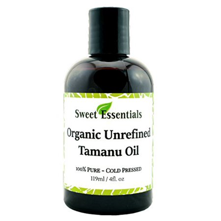 Organic Unrefined Tamanu Oil | 4oz | Imported from Tahiti | 100% Pure | Cold Pressed | Age Spot & Scar Reduction | Acne Prevention & Healing | Moisturizing | Treat & Prevent Eczema and Psoriasis